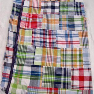 Pottery Barn Madras Patchwork 2 Blackout Curtains
